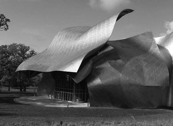 Bard College- Frank Gehry-b&w
