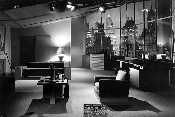 The Fountainhead (1949)  Directed by King Vidor Shown: test still of Roark's apartment set